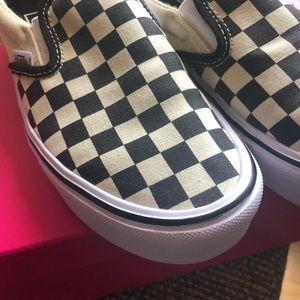 Vans Ultra Cush Checkered Slip On Sneakers